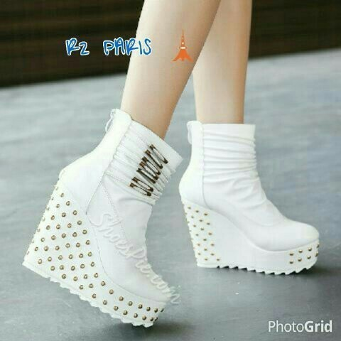 wedges hitam - Temukan Harga dan Penawaran Boots & Ankle Boots Online Terbaik - Sepatu Wanita November 2018 | Shopee Indonesia