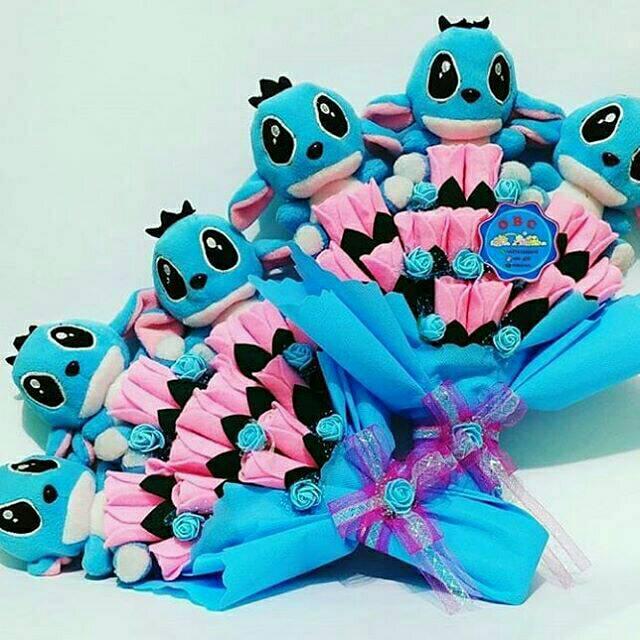 Buket Bunga Boneka Stitch Shopee Indonesia