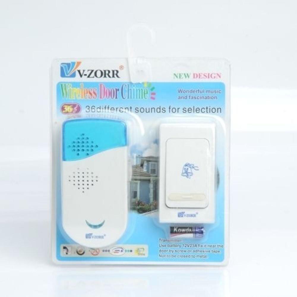Bel Pintu Tanpa Kabel V Zorr Wireless Door Bell Shopee Indonesia Vzorr