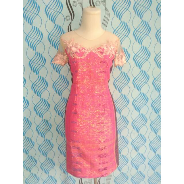 Dress Ulos Pink