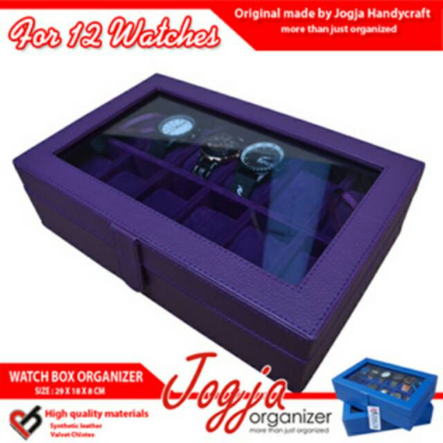 Box Jam Tangan isi 12 warna Hitam Full   Kotak Jam Tangan  40b89107eb