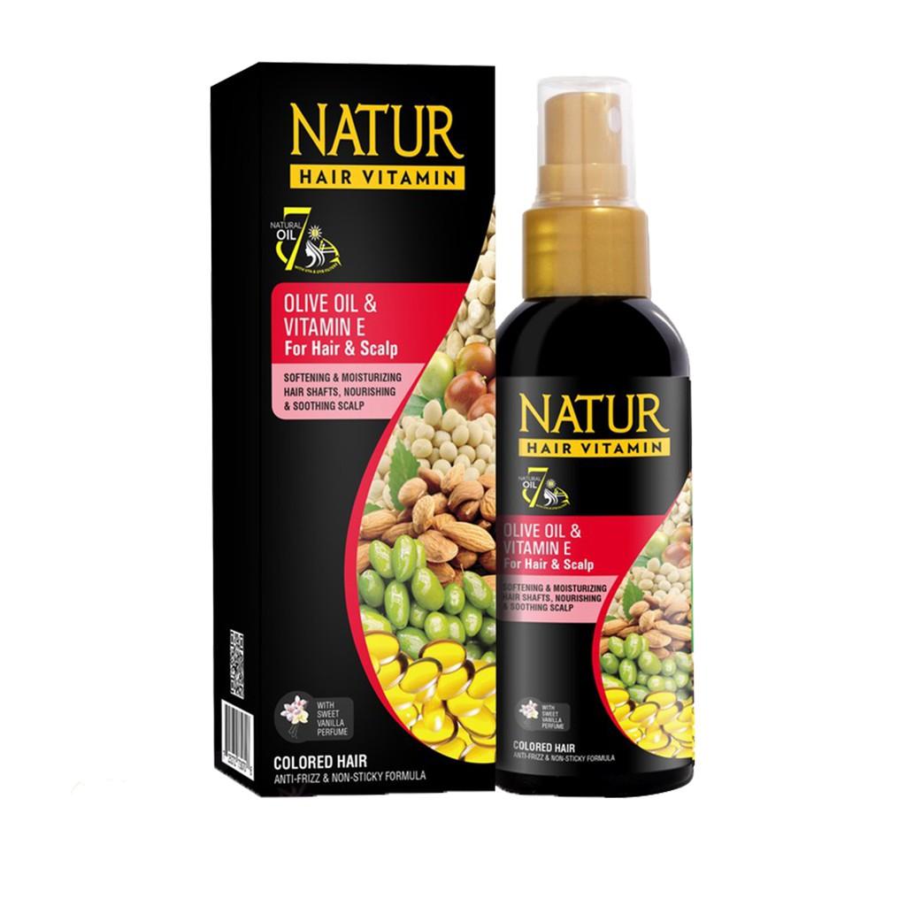 ❤ BELIA ❤ NATUR Hair Mask   Hair Vitamin   2 in 1 Shampoo & Hair Tonic(✔️BPOM)-N.HVitaminOlive 80mL