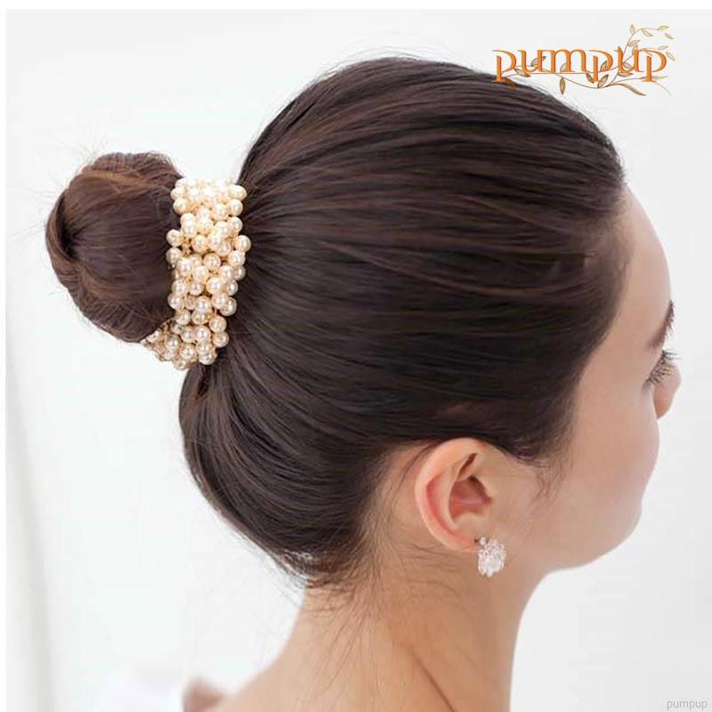 Cloth Fabric Multilayer Flower Elastic Hair Ties Bands Rope Ponytail Holders New