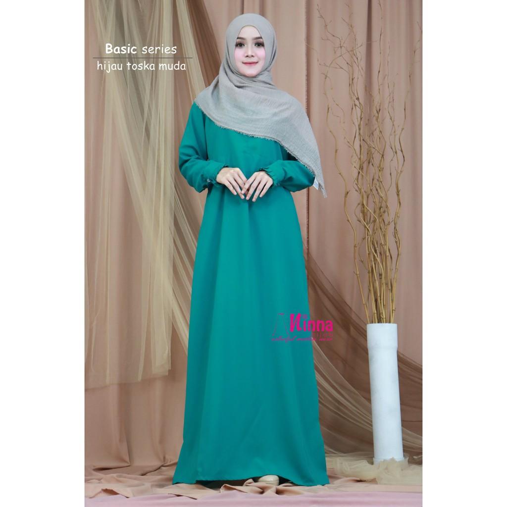 Cuci Gudang Gamis Polos Basic Hijau Tosca Toska Muda Dress Maxi Terusan Termurah Hijab Soloe Shopee Indonesia