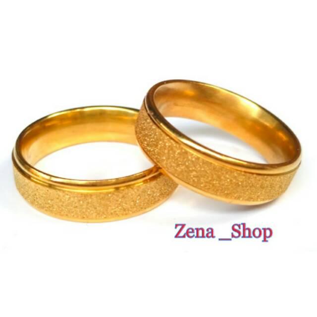 Promo Perhiasan Cincin Titanium Gold Ring Oval Plate Cincin Emas Couple Ring Signet Murah | Shopee Indonesia