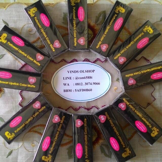 Purbasari Lipstick Color Matte - 5 Warna Baru Purbasari Lipstik Matte 91 92 93 94 95 - Vinds Olshop   Shopee Indonesia