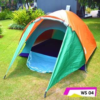 Tenda Camping Matougui WS004 Double Layer Kapasitas 3-4 Orang Dewasa