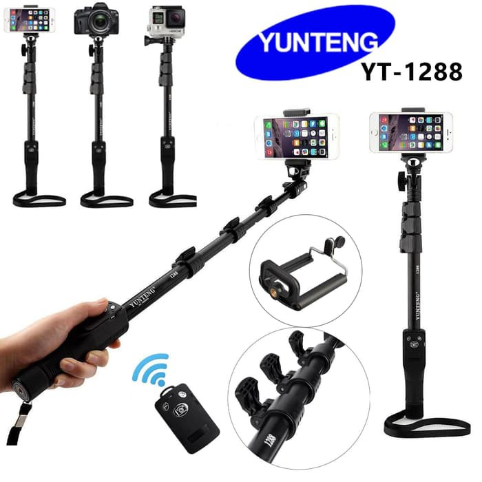 Tongsis Yunteng YT-1188 Selfie Stick Monopod Tongsis with AUX Cable / TONSIS YUNTENG YT 1188 | Shopee Indonesia