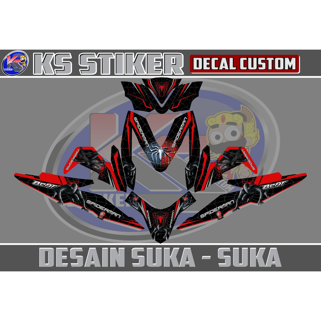 Stiker decal all new beat esp beat street hitam pink 01 shopee indonesia