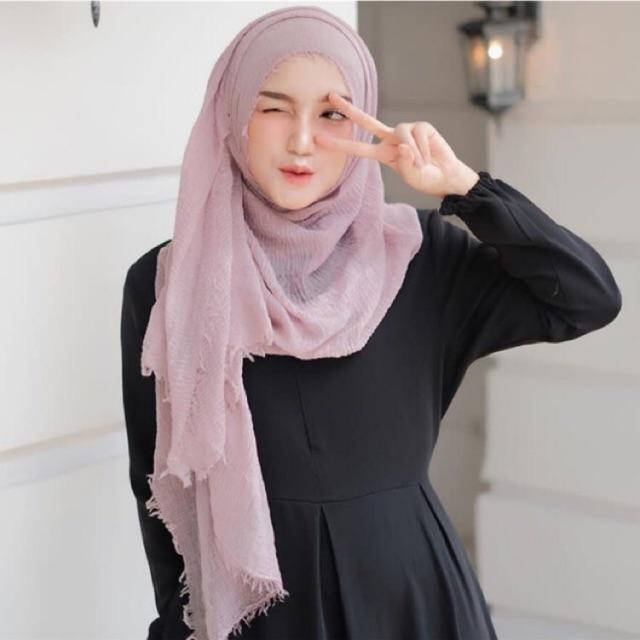 Gambar Tutorial Hijab Pashmina Crinkle Gambar Hijab