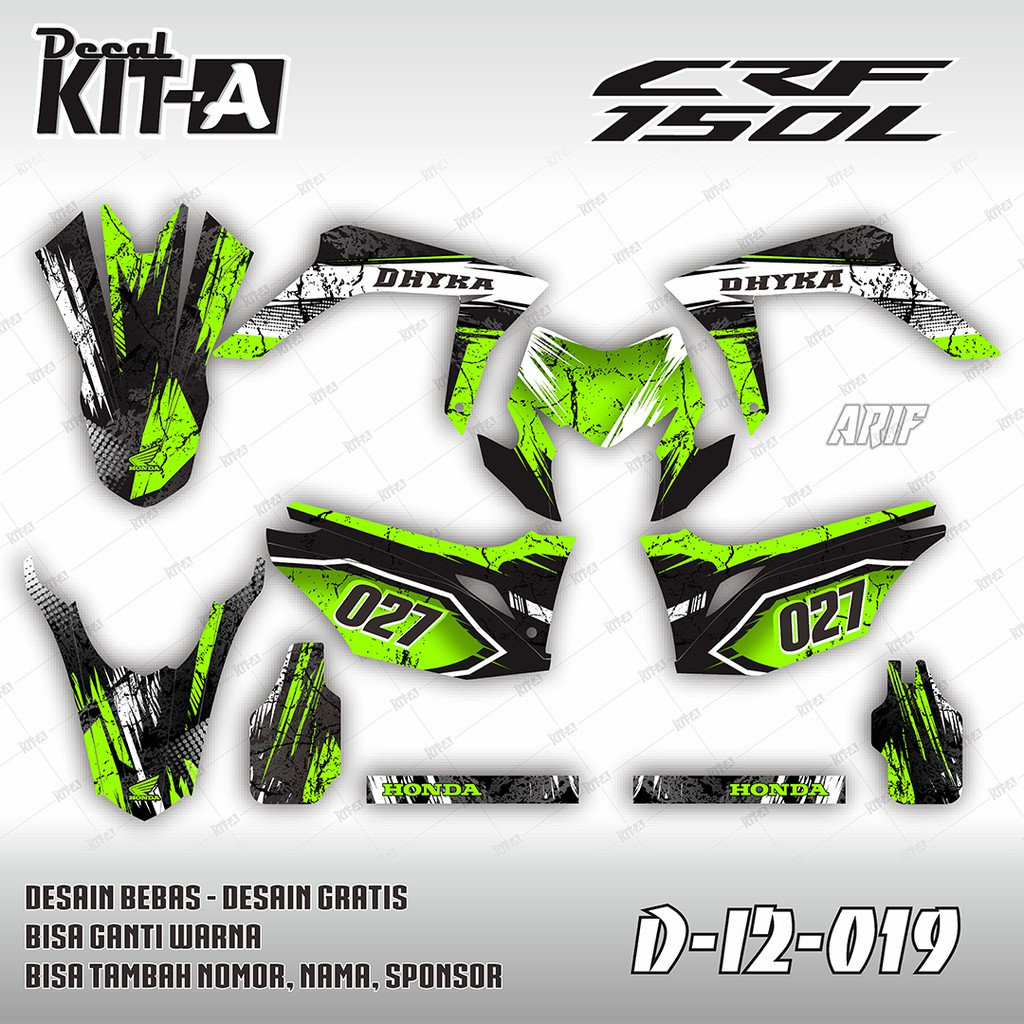 Decal stiker klx 150 bf dekal sticker striping hulk custom full body klx 150 g bf 024 shopee indonesia