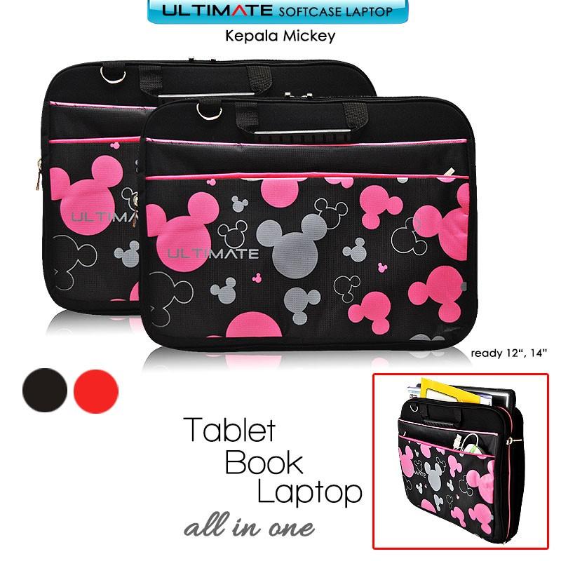 Doraemon Biru Bulu Lebat 10-17 inchi softcase tas laptop netbook wanita  lucu tas murah kartun anak  f116cf2d25