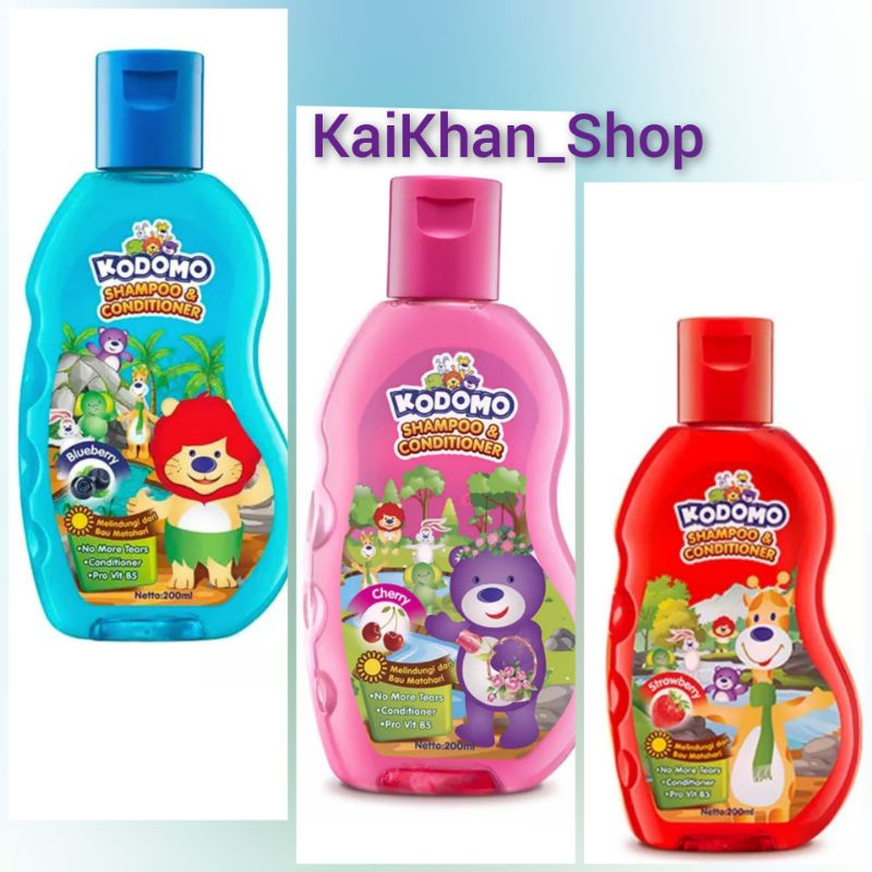 KODOMO Shampoo Botol Gel  [ 200ml ]
