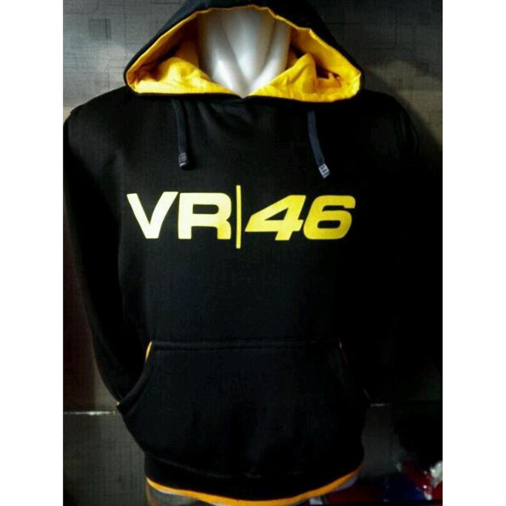 Jaket Hoodie Vr46 Bl Er Shoop Shopee Indonesia Zims Black Terlengkap