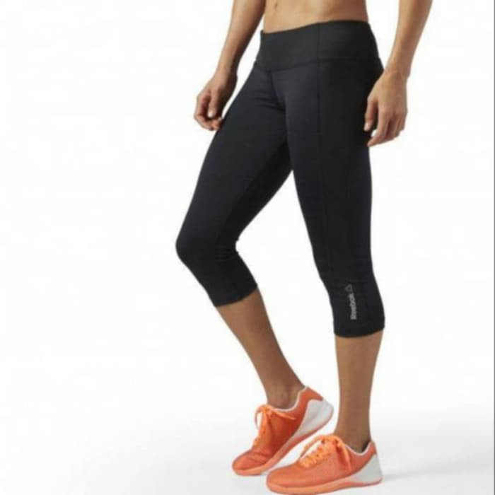 Aj03 Reebok Capri Woman Celana Pendek Legging Selutut Olahraga Wanita Shopee Indonesia