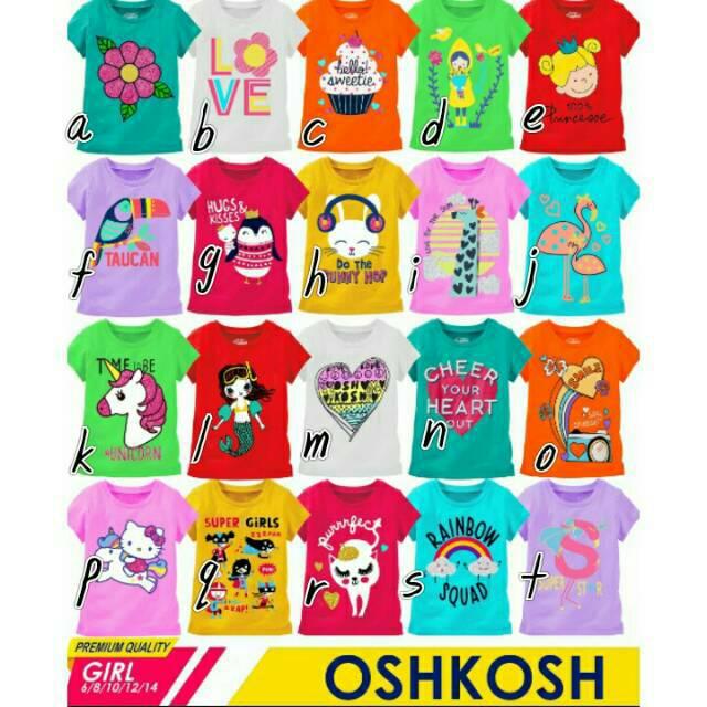 Kaos Atasan Oshkosh Girl Ada Hangtag Polybag Pakaian Baju Anak Perempuan  Murah Grosir Paket Usaha  1dd254af94