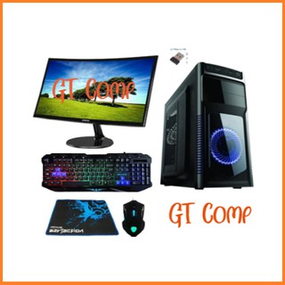 PC Gaming Intel Core I7 2600 RAM 16GB VGA GT 1030 2GB Include 24 Inch Curved SSD 120