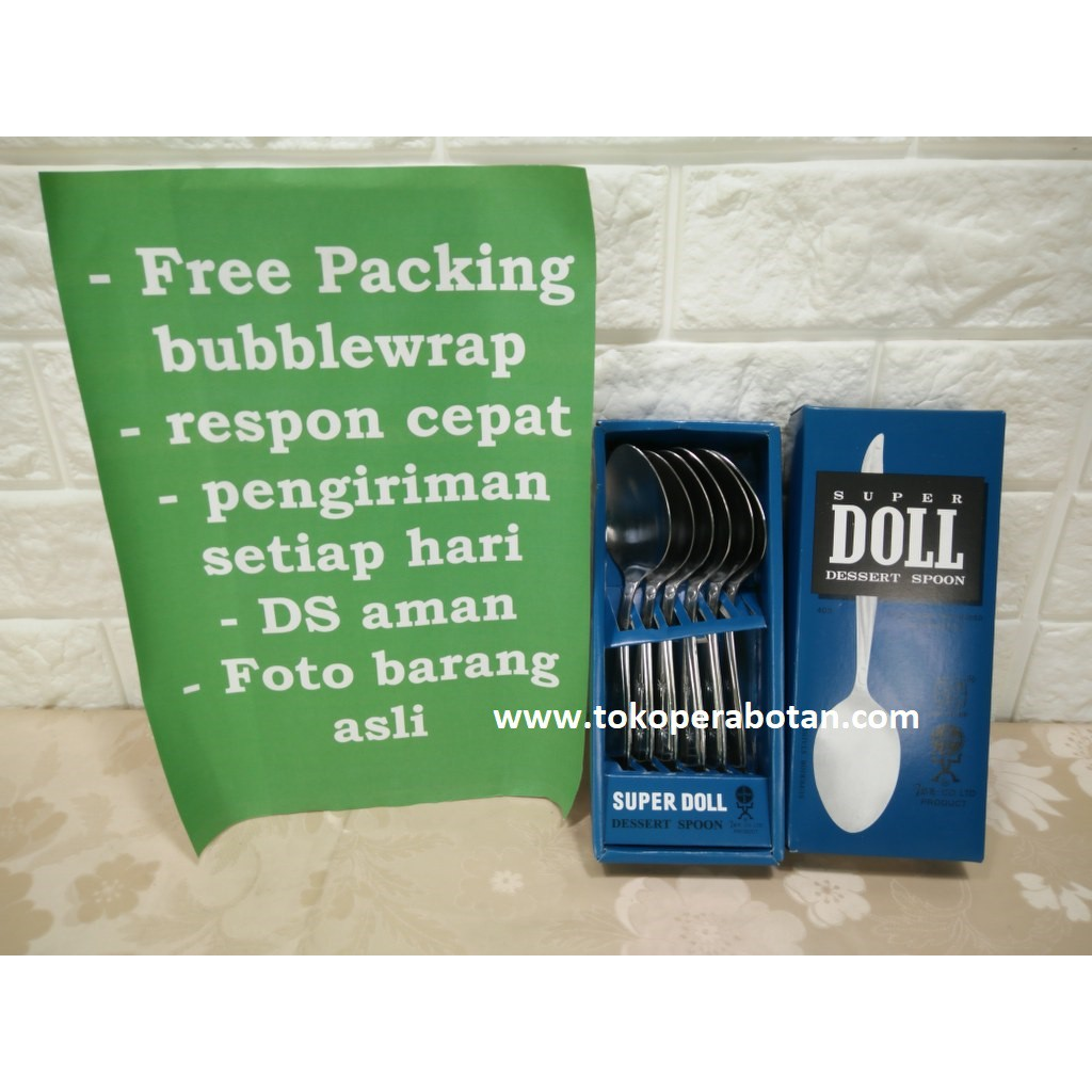 Super Doll Sendok Teh Kecil Stainless Steel Tea Spoon Isi 6 Pcs Garpu Perdus Shopee Indonesia
