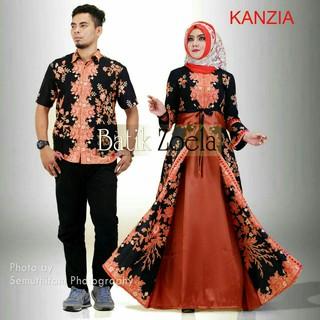 Model Batik Gamis Sogan Merak Baju Keluarga Shopee Indonesia