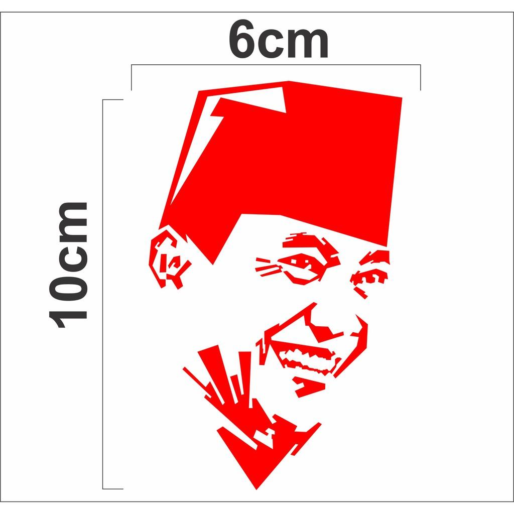 Sticker Cutting Sketsa Soekarno Sticker Wajah Soekarno