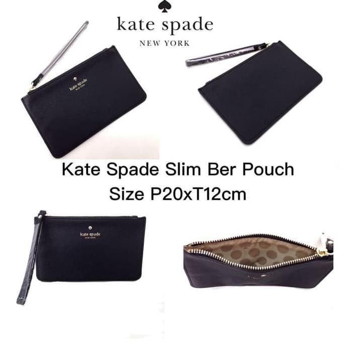 5e54ad403178 Produk Perempuan Kate Spade Slim Ber Pouch Red Violet  Promo ...