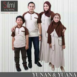 YUNAN YUANA Sarimbit muslim Couple seragam keluarga baju branded koko gamis Ayah Ibu Anak murah baru