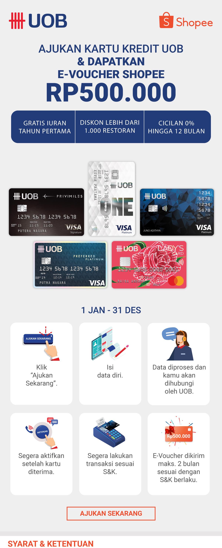 Ajukan Kartu Kredit Uob Dapat Voucher Shopee 500rb
