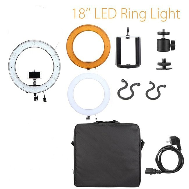 18'' 5500K LED Dimmable Diva Ring Light Beauty Light(stand not include) | Shopee Indonesia
