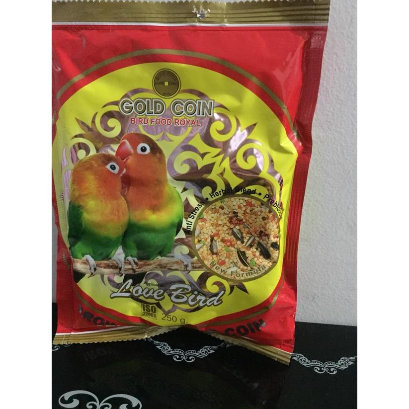 Qar Gold Coin Lovebird Pakan Burung Khusus Lovebird Makanan