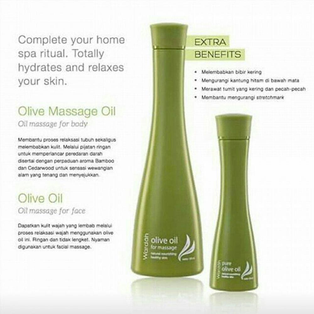 Wardah Minyak Zaitun Kecil Untuk Wajah Pure Olive Oil 50ml Shopee Indonesia