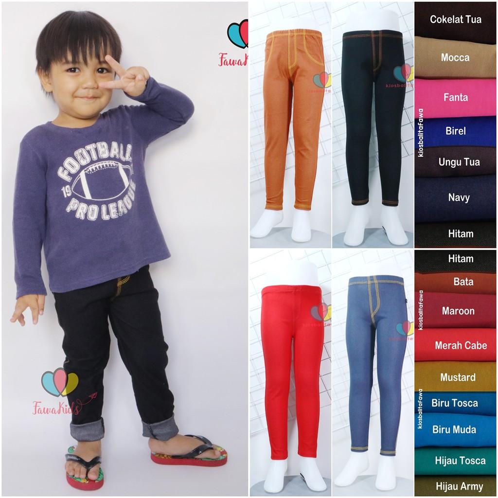 Jegging Jeans Anak Bayi S D 10 Tahun Legging Jeans Anak Laki Perempuan Celana Panjang Polos Tebal Shopee Indonesia