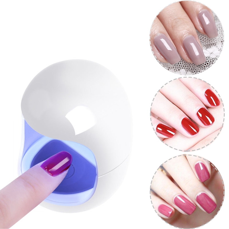 Mini Uv Led Lamp Nail Dryer Portable Gel Polish Drying Machine Usb Charging Nail Lamp Uv Lamp Nail Dryer Home Use Manicure Curing Tools Shopee Indonesia