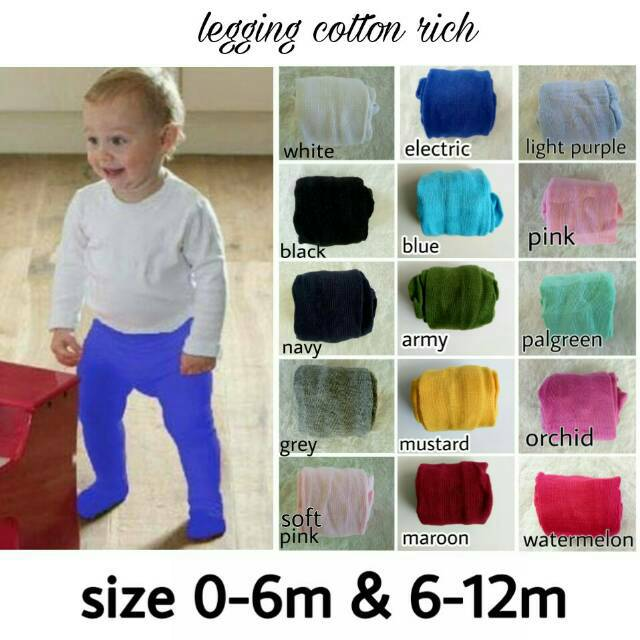 Legging Cotton Rich Polos 1 Legging Bayi Legging Polos Bayi Legging Tutup Kaki Bayi Shopee Indonesia