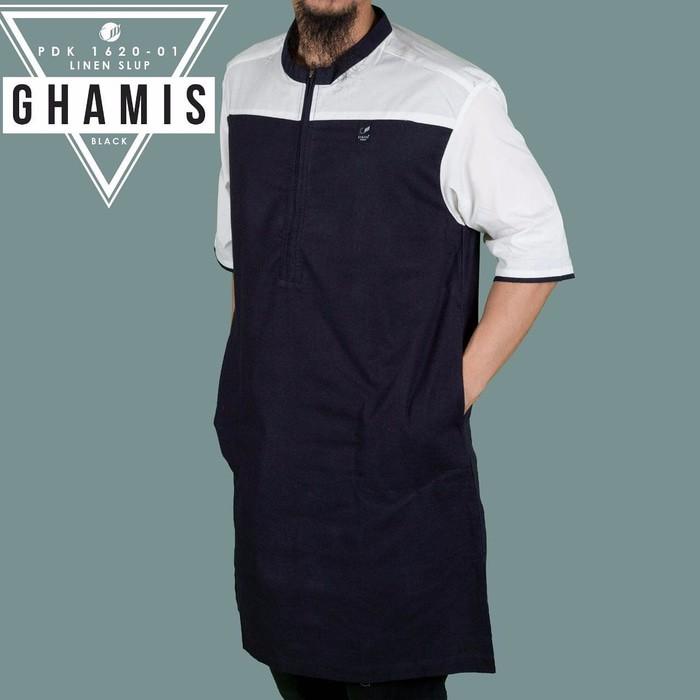 SAMASE GHAMIS 10 Gamis Pria Lengan Panjang Warna Putih Hitam | Shopee Indonesia