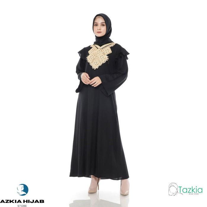 Terbaru Dress Muslim Original | Gamis Turki Hitam | Azkia Hijab Store - Hitam Real Pict