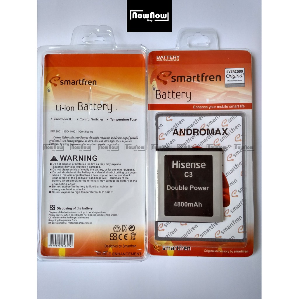 Baterai Modem Smartfren Andromax Mifi M3y M3s M3z Original Double Power Batre Batrai Battery H15418 Shopee Indonesia