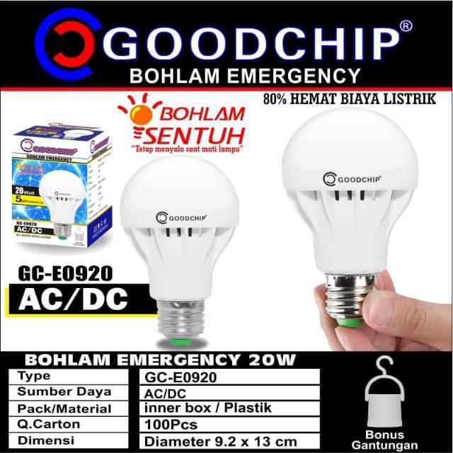 Lampu Emergency Goodchip 20watt Bohlam Sentuh