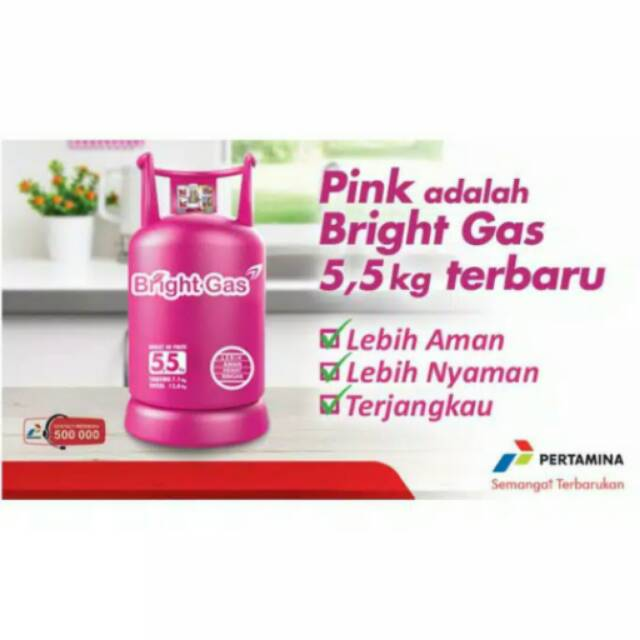 Tabung Gas 5kg Bright Gas Pink Shopee Indonesia