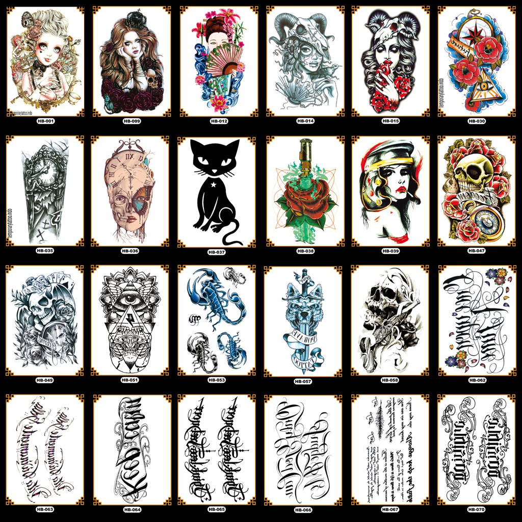 Tato Temporer Gaul Keren Lengan Tangan Temporary Tattoo Stiker Tempel Sticker Tatto Temp 21x15 Hb Shopee Indonesia
