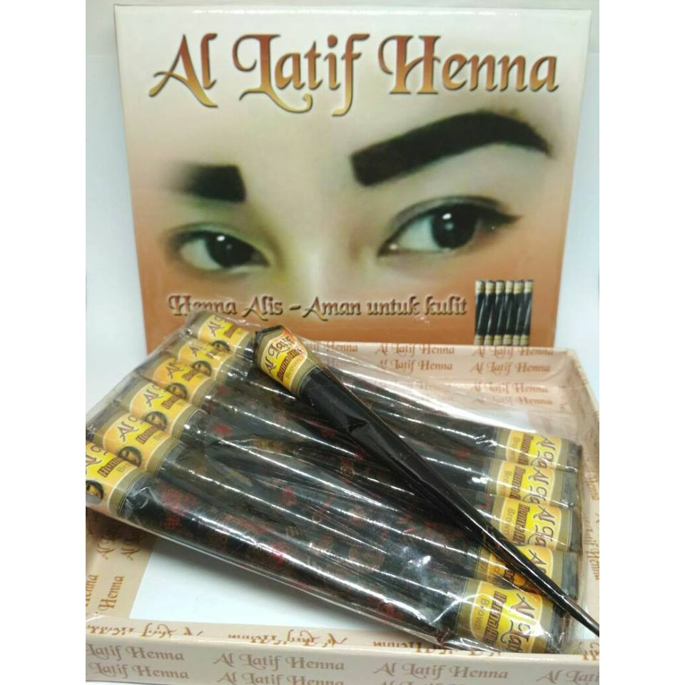 Hena Alis Dark Brown Halal Pengganti Pensil Tato Viva Queen Eyebrow Pencil 100 Original Shopee Indonesia