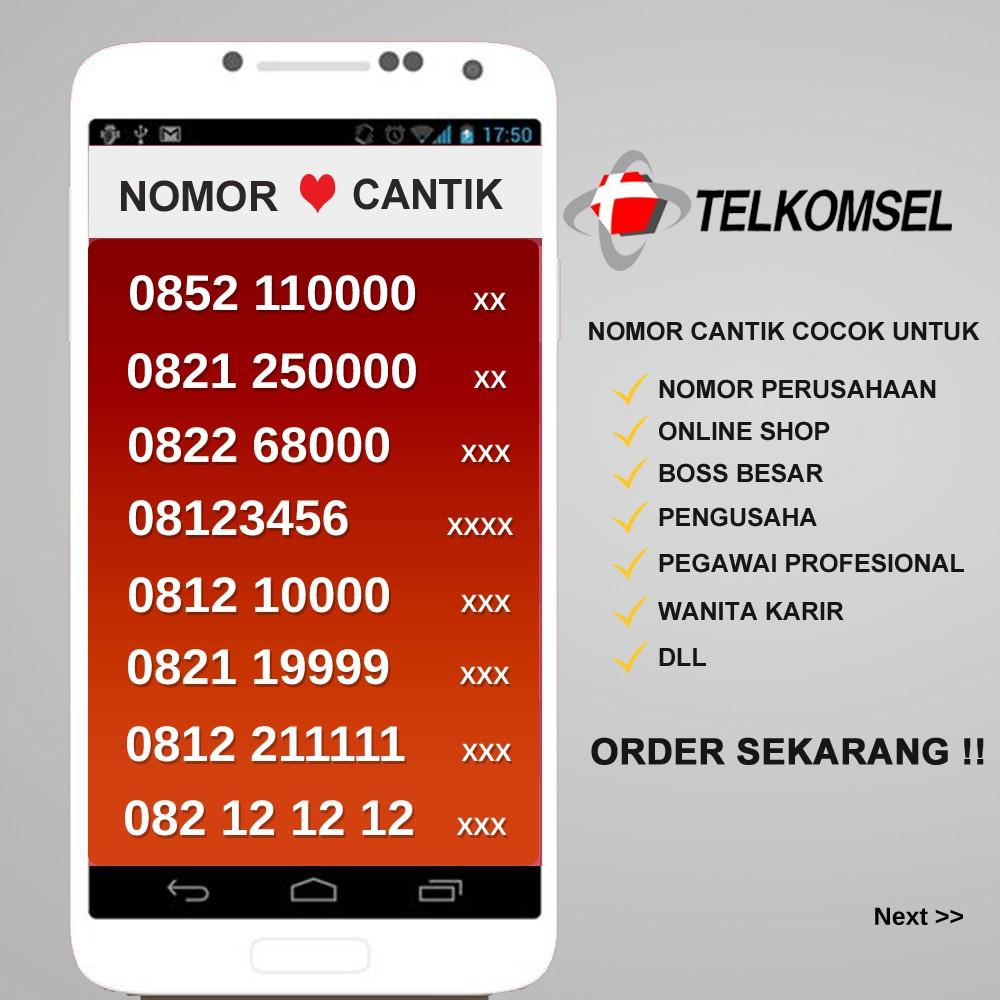 Nomor Cantik AS 4G LTE KWARTET Tujuh Kartu Perdana cantik Telkomsel Nocan - 0852 7777 6AAx   Shopee Indonesia