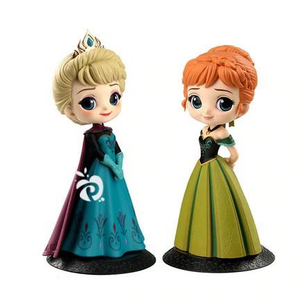 Frozen Anna Elsa Figure Set 2 Mainan Pajangan Miniatur Hiasan Topper Fg625 Shopee Indonesia