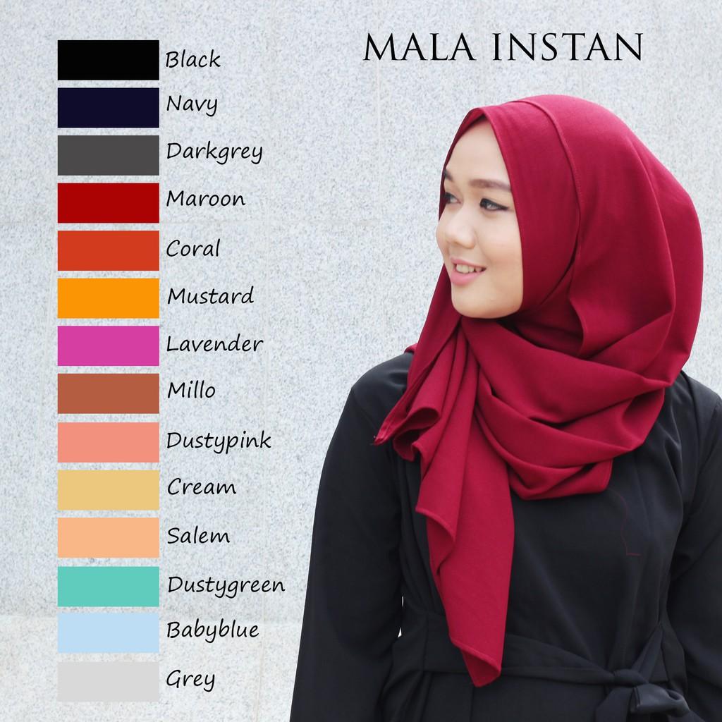 Pashmina Instan Sala Shopee Indonesia Size M