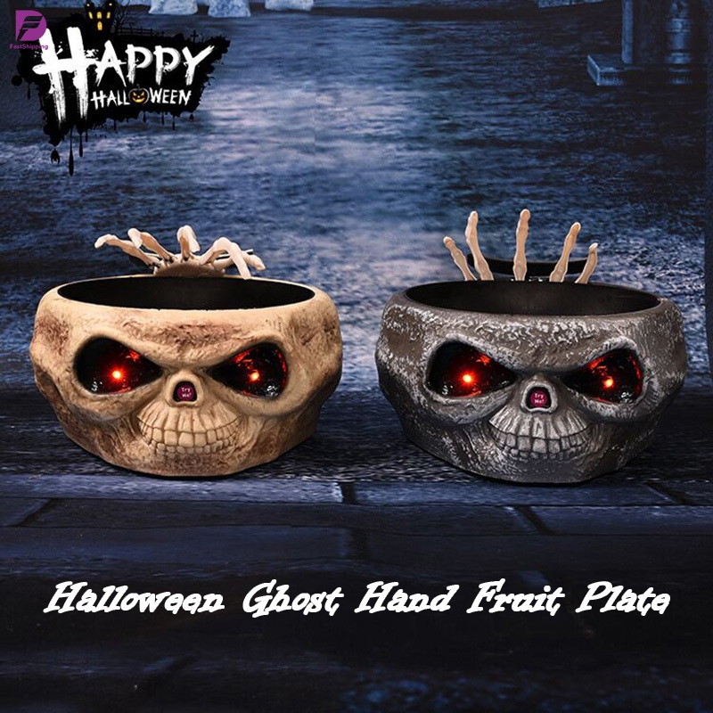 Halloween Skeleton Hand Bowl Ceramic Candy Snack Dish Party Decoration