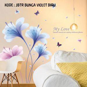 Violet Flower sk9027 Wallsticker Stiker Dinding uk 60x90 | Shopee Indonesia