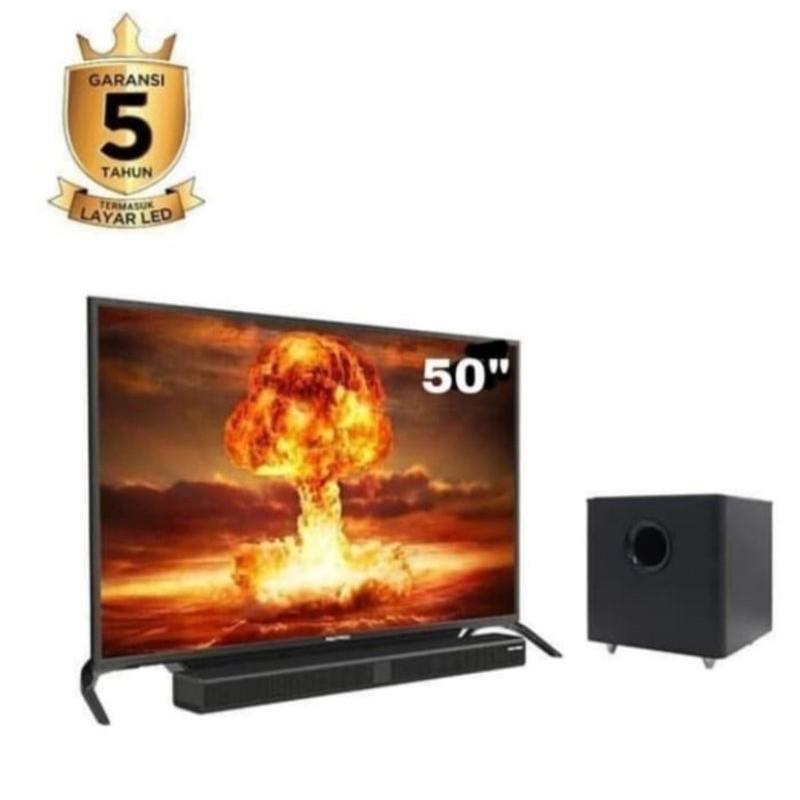 TV LED POLYTRON 50 INCH SOUNDBAR BANDUNG ONLY