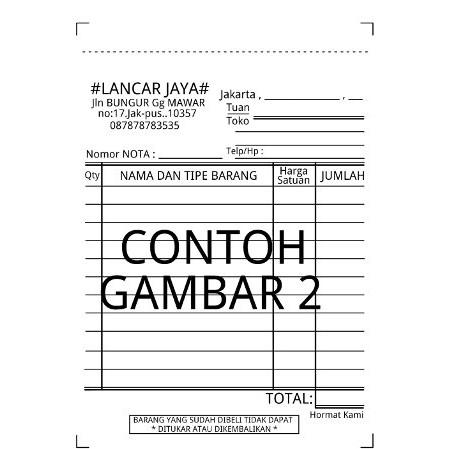 Nota Kontan K2 Kecil Paperline Is 10 Pcs Per Pak Ppl Bon Toko Kantor