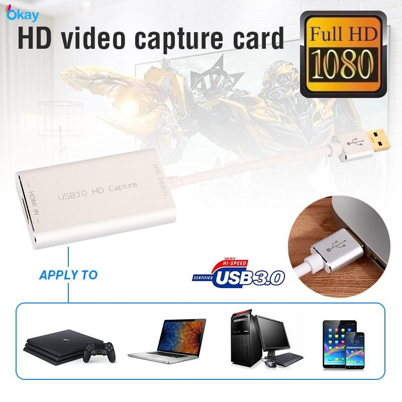 OP Video Capture Card Capture Card Durable HDMI To USB 3 0 60fps Laptop TV
