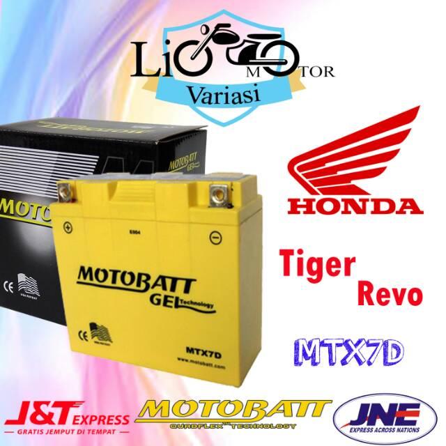 Aki Motor Honda Tiger Revo Motobatt MTX7D Aki gel Aki kering