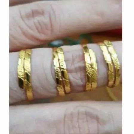 cincin selisih susun all size besar kecil jumbo emas asli 24k 24 karat 1 gram 1gram